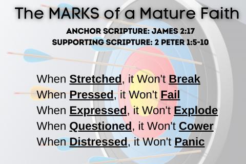 The Marks of a Mature Faith